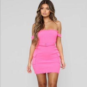 Fashion Nova Hot Pink Dress